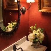 French country powder room Bucks County, Pa