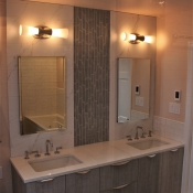 New Master Bath features Handmade Tile