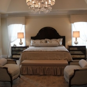 Classic master bedroom in Newtown, PA