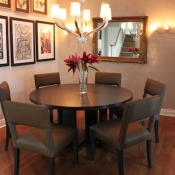 Townhouse dining room in Solebury, PA