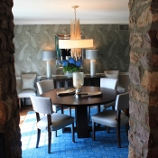Updated Dining Room in Historic Bucks County Pennsylvania home