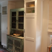 Vintage cabinet incorporated in a new kitchen