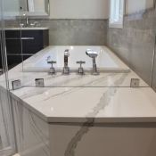 Master Bath Quartz Matching