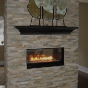 Linear fireplace surround in New Hope, PA