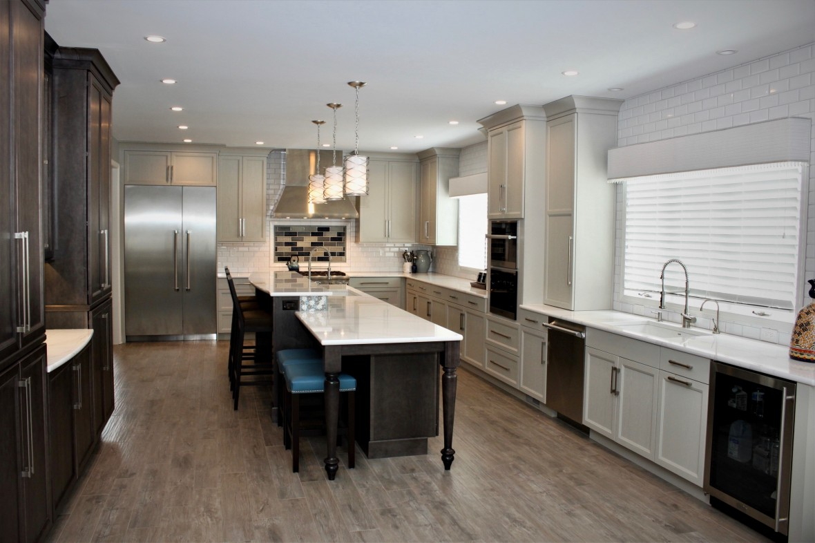 Expanded Transitional Kitchen